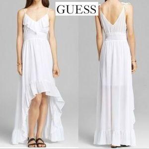 Guess Solid Chiffon Maxi Dress